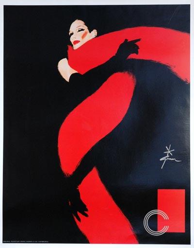 Rene gruau poster gruau postes vintage gruau posters - Fauteuil rouge et noir ...