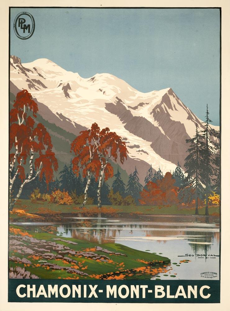 VINTAGE TRAVEL Ski France by McNair Art Silk Poster 24x36inch